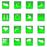 Sistema de dieciséis botones de cristal Imagen de archivo