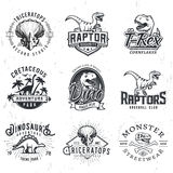 Sistema de Dino Logos Foto de archivo libre de regalías