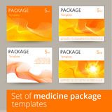 Sistema de diseño de paquete de la medicina con 3d-template Foto de archivo libre de regalías