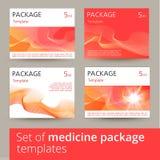 Sistema de diseño de paquete de la medicina con 3d-template Foto de archivo
