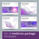 Sistema de diseño de paquete de la medicina con 3d-template stock de ilustración