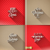 Sistema de diseños de la Navidad Fotos de archivo