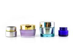 Sistema de diversa crema de los cosméticos imagen de archivo