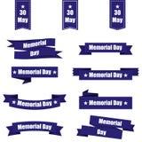 Sistema de diversas cintas para el Memorial Day América Ilustración del vector Foto de archivo