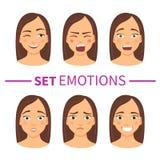 Sistema de diversas emociones libre illustration