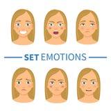 Sistema de diversas emociones ilustración del vector