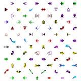 Sistema de diversas flechas coloreadas Imagenes de archivo