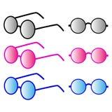 Sistema de diversas gafas de sol Imagenes de archivo