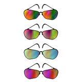 Sistema de diversas gafas de sol fotos de archivo libres de regalías