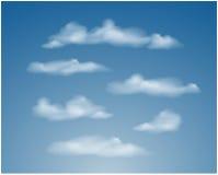 Sistema de diversas nubes transparentes Vector Fotografía de archivo
