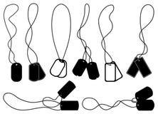 Sistema de diversas placas de identificación Fotografía de archivo