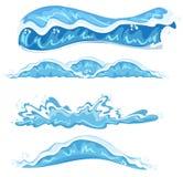 Sistema de diverso diseño de la onda stock de ilustración