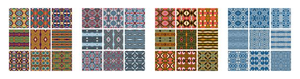 Sistema de diverso modelo geométrico coloreado inconsútil del vintage libre illustration