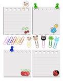 Sistema de diverso papel Sistema 3 Imagenes de archivo