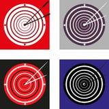 Sistema de diverso reloj de la blanco de la flecha Fotos de archivo libres de regalías