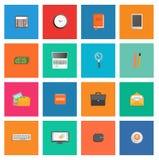 Sistema de diversos artículos del servicio financiero Fotografía de archivo libre de regalías