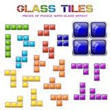 Sistema de diversos bloques de la teja Elementos del diseño del mosaico Imagen de archivo libre de regalías
