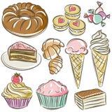 Sistema de diversos caramelos Imagen de archivo