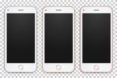 Sistema de diversos colores de las plantillas digitales de los teléfonos móviles Imagen de archivo libre de regalías