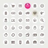 Sistema de iconos de las compras libre illustration