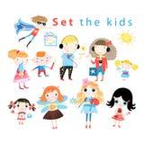 Sistema de diversos niños divertidos Foto de archivo