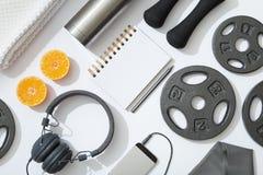 Sistema de diversos objetos de la aptitud Fotografía de archivo libre de regalías
