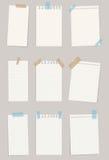 Sistema de diversos papeles de nota Ilustración del vector EPS 10 Fotografía de archivo