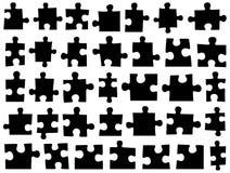 Sistema de diversos pedazos del rompecabezas stock de ilustración