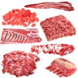 Sistema de diversos productos de carne imagenes de archivo