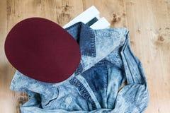 Sistema de diversos ropa y accesorios para los hombres Imagen de archivo libre de regalías