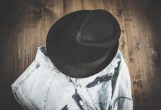 Sistema de diversos ropa y accesorios para los hombres Fotografía de archivo