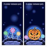 Sistema de dos banderas de Halloween Vector Fotografía de archivo libre de regalías
