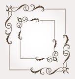 Sistema de dos bastidores y decoraciones florales de la página Fotos de archivo