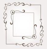 Sistema de dos bastidores y decoraciones florales de la página Fotografía de archivo