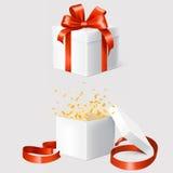Sistema de dos cajas de regalo Imágenes de archivo libres de regalías