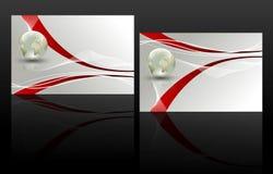 Sistema de dos tarjetas de visita Imagen de archivo libre de regalías