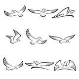 Sistema de Eagles Vector stock de ilustración