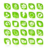 Sistema de ecología - verde - iconos de la energía de la renovación Fotos de archivo
