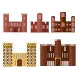Sistema de edificio del castillo Torre medieval Fotos de archivo libres de regalías