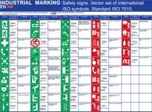 Sistema de edificios de las muestras de seguridad del vector y de otros usos Fije los símbolos estandardizados de la seguridad de libre illustration