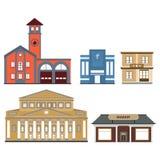 Sistema de edificios públicos Imagen de archivo