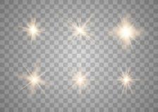 Sistema de efecto luminoso del resplandor stock de ilustración