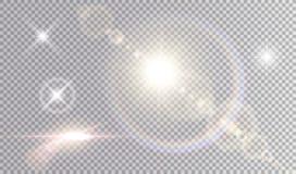 Sistema de efectos luminosos brillantes libre illustration