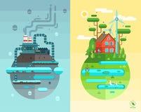 Sistema de ejemplos planos del concepto de diseño libre illustration