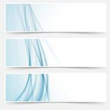 Sistema de elemento abstracto moderno azul del web de Swoosh Imágenes de archivo libres de regalías