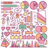 Sistema de elemento de Infographic Foto de archivo libre de regalías