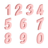Sistema de elemento de la forma de diez números cero a nueve, diseño del número imágenes de archivo libres de regalías