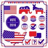 Sistema de elemento de la votación y de la elección stock de ilustración