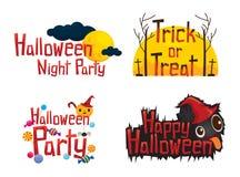 Sistema de elemento del diseño de los textos de Halloween Fotos de archivo libres de regalías