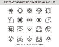 Sistema de elemento geométrico Imágenes de archivo libres de regalías